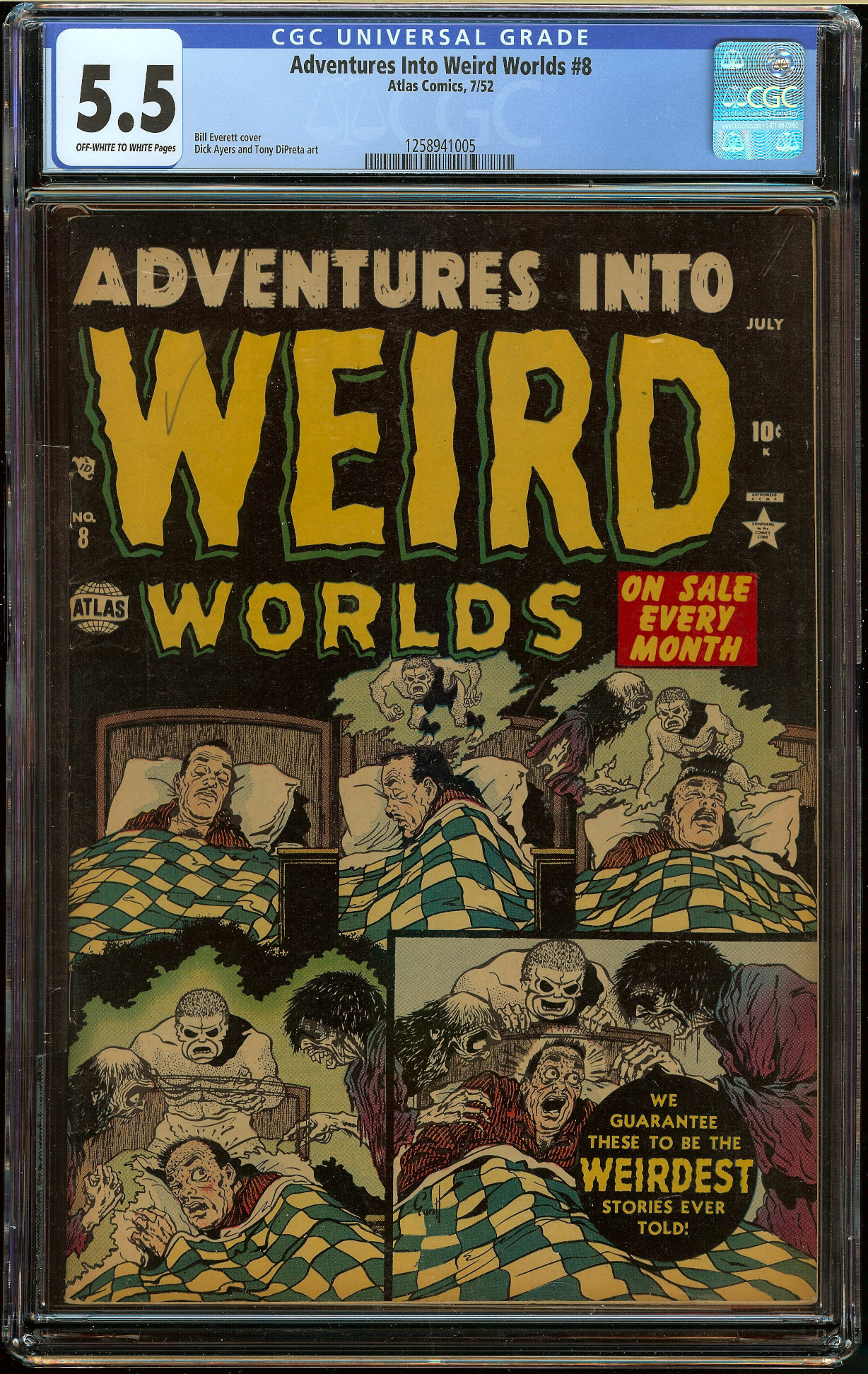 Adventures into Weird Worlds #8 CGC 5.5