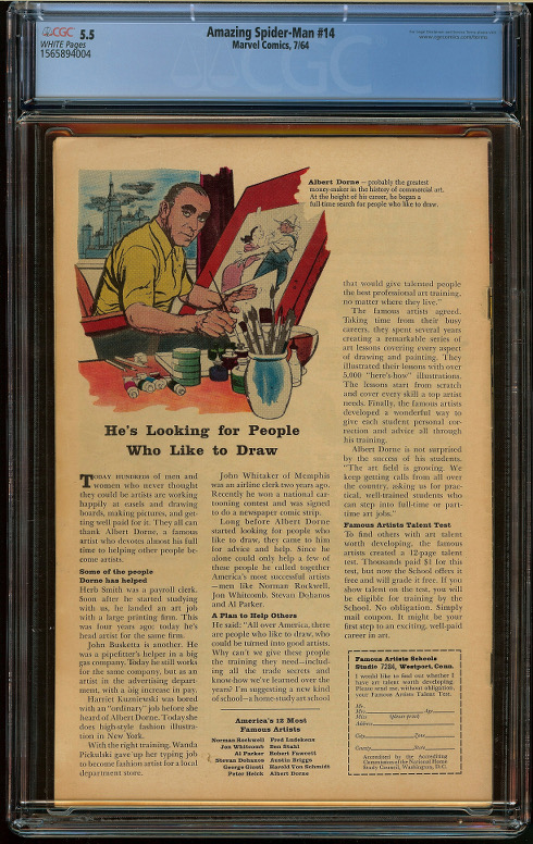 Amazing Spider-Man #14 CGC 5.5 - Click Image to Close