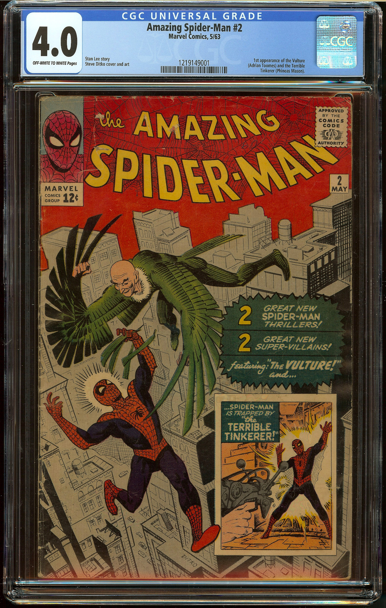Amazing Spider-Man #2 CGC 4.0