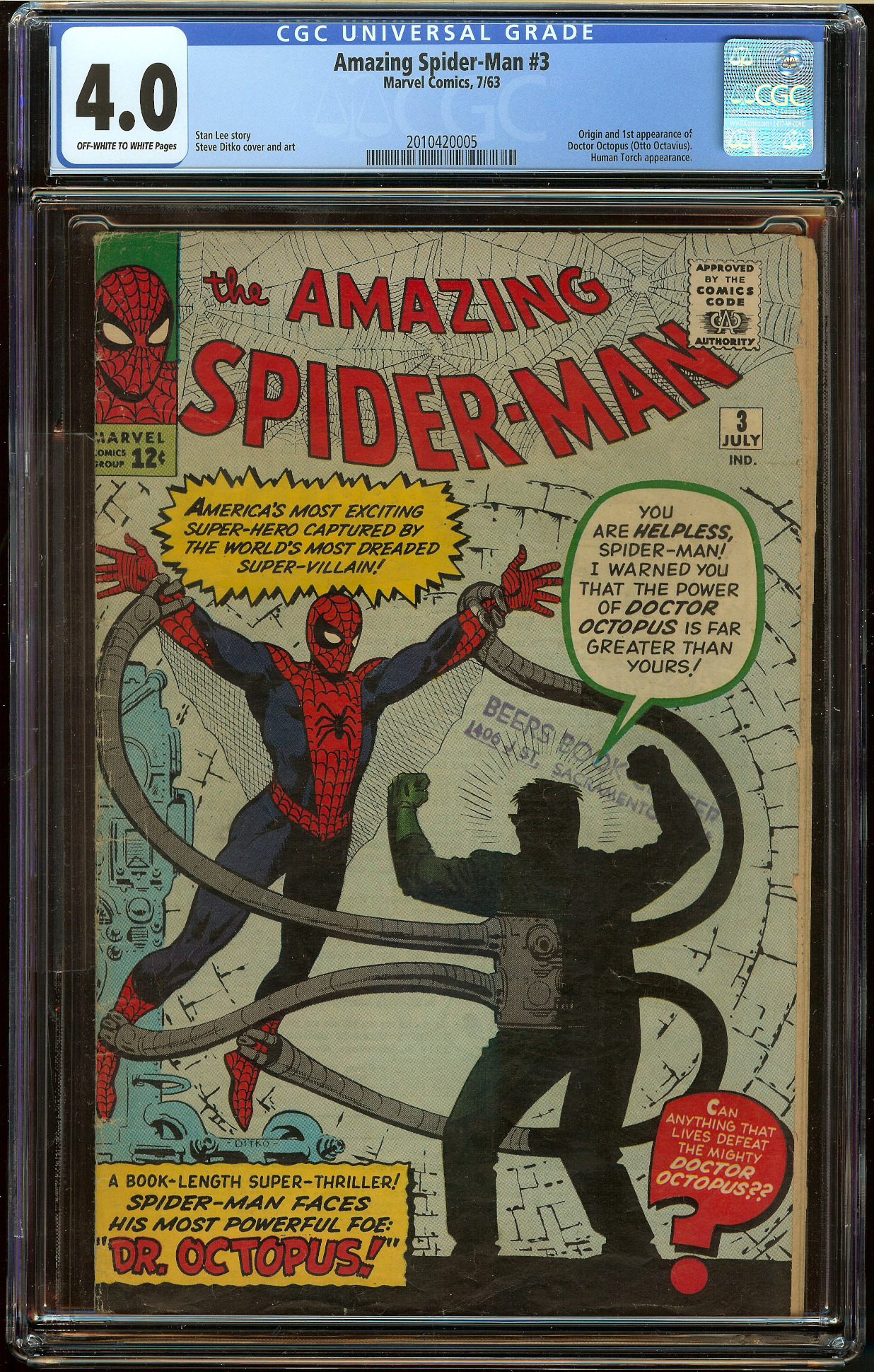 Amazing Spider-Man #3 CGC 4.0