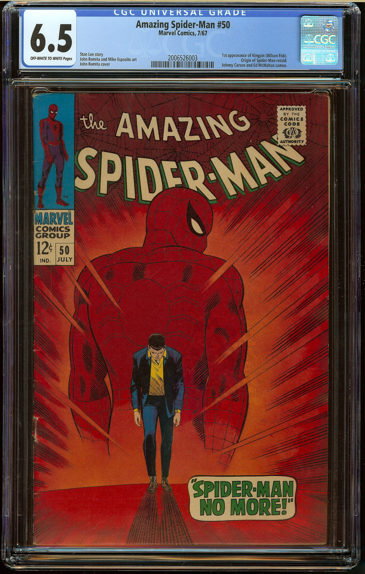 Amazing Spider-Man #50 CGC 6.5