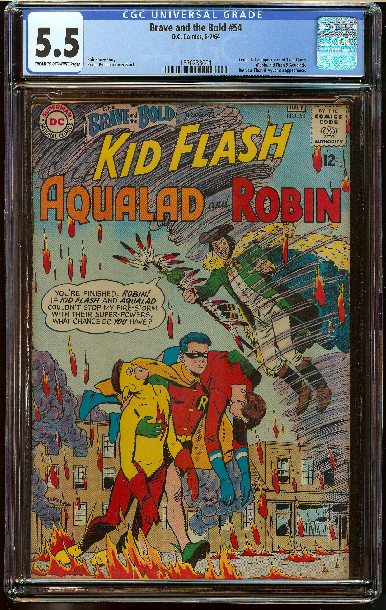 Brave and the Bold #54 CGC 5.5