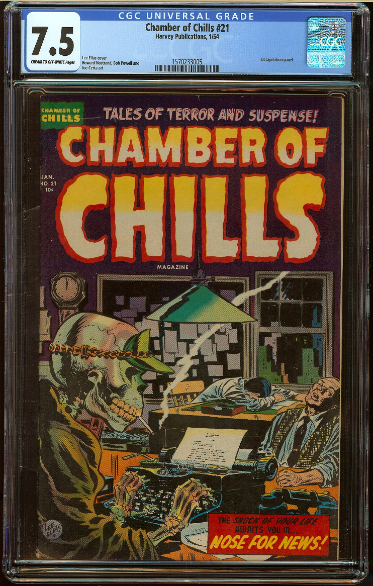 Chamber of Chills #21 CGC 7.5 - Click Image to Close