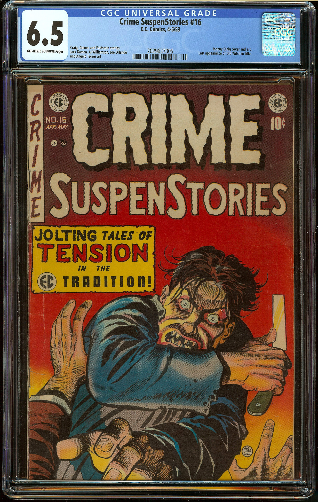 Crime SuspenStories #16 CGC 6.5