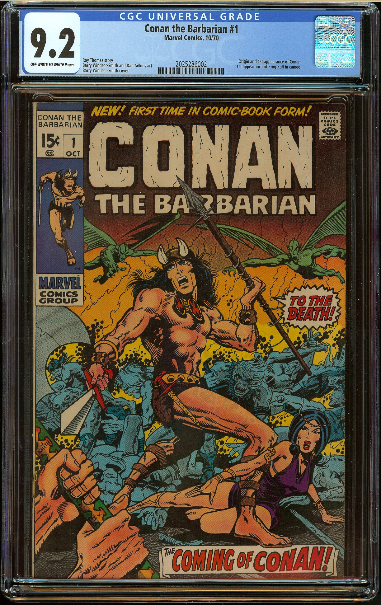 Conan the Barbarian #1 CGC 9.2