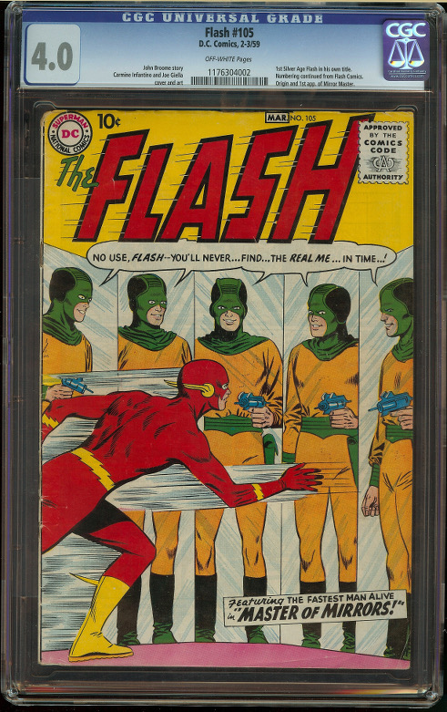 Flash #105 CGC 4.0 - Click Image to Close