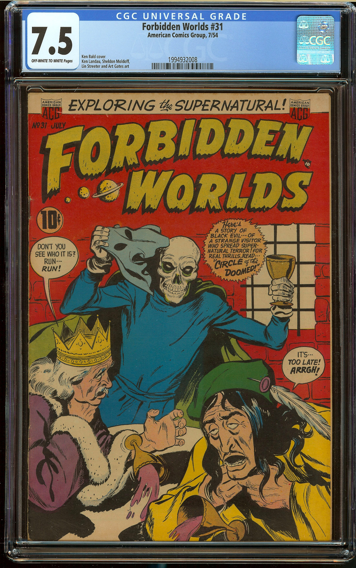 Forbidden Worlds #31 CGC 7.5
