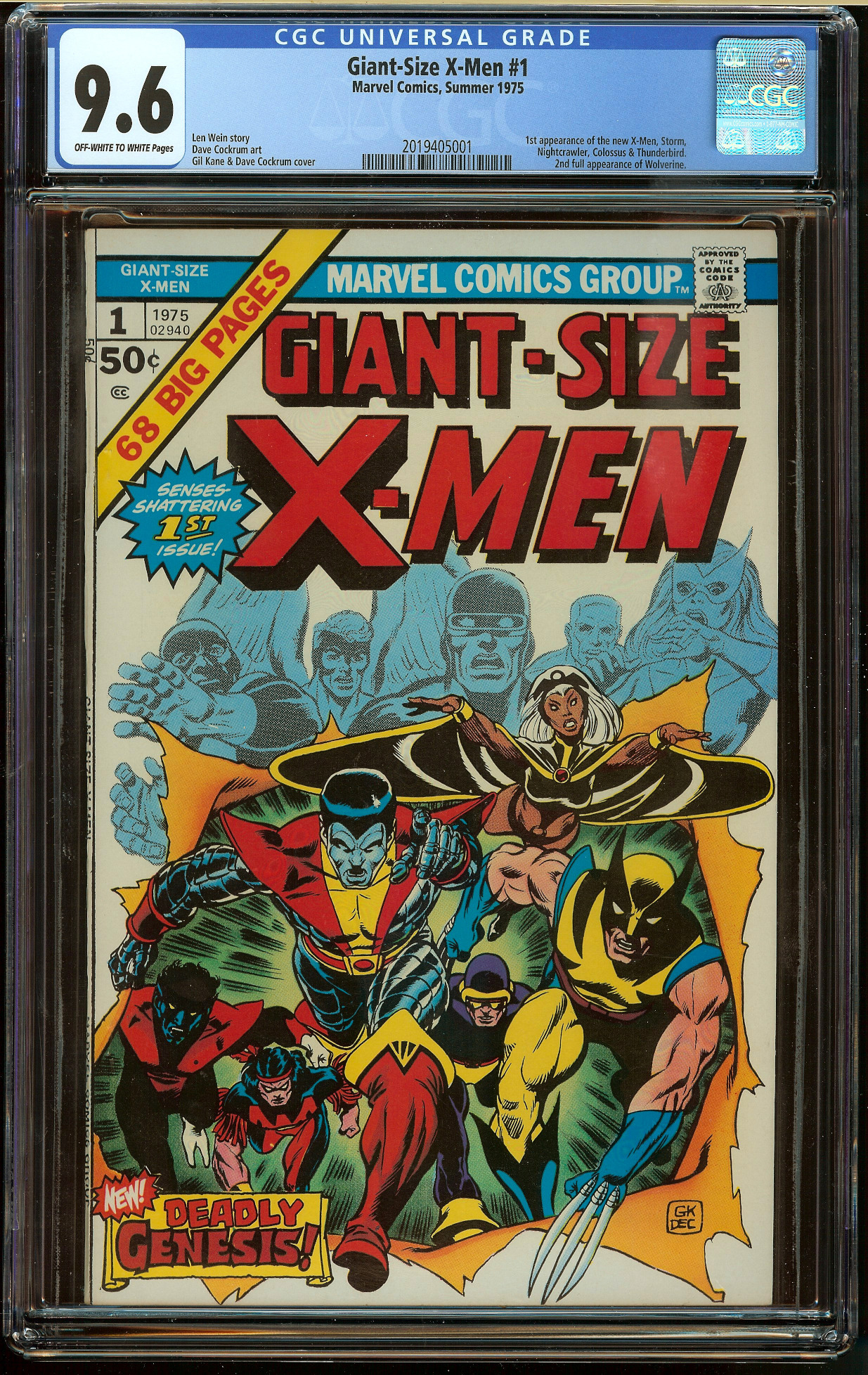 Giant-Size X-Men #1 CGC 9.6