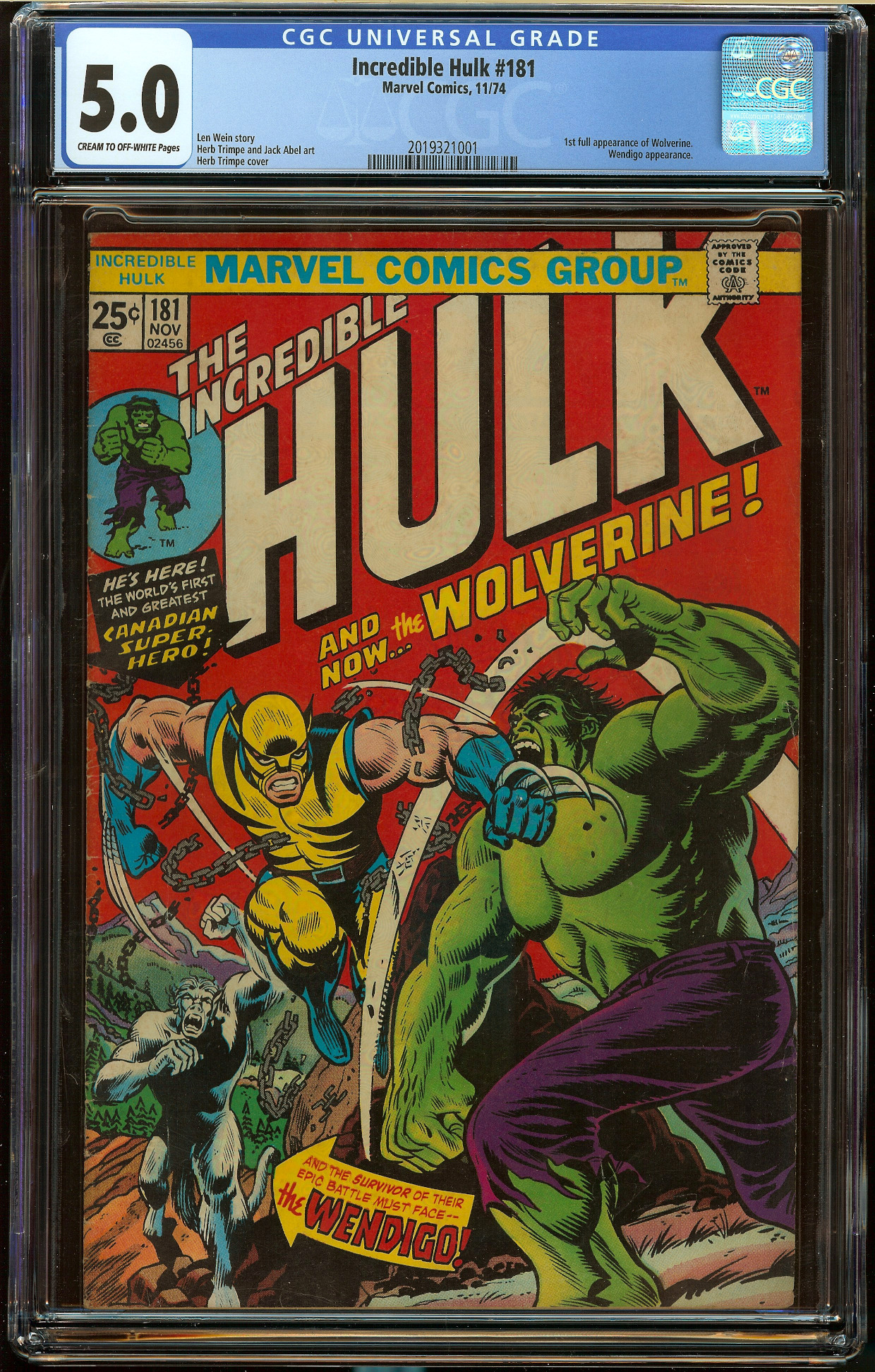 Incredible Hulk #181 CGC 5.0