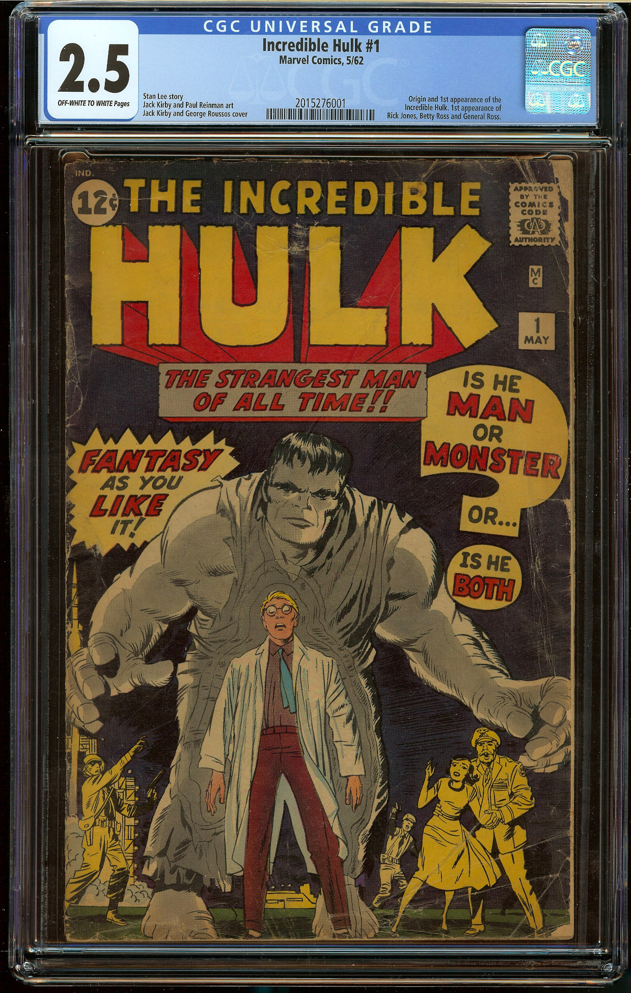 Incredible Hulk #1 CGC 2.5