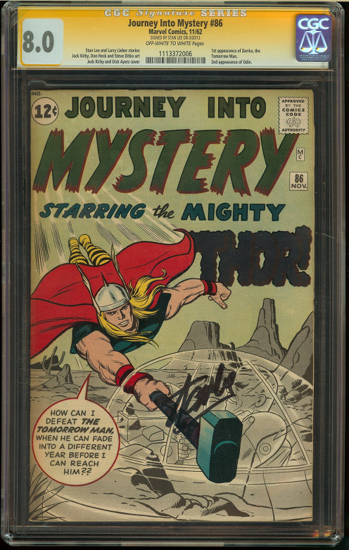 Journey into Mystery #86 CGC 8.0 SS