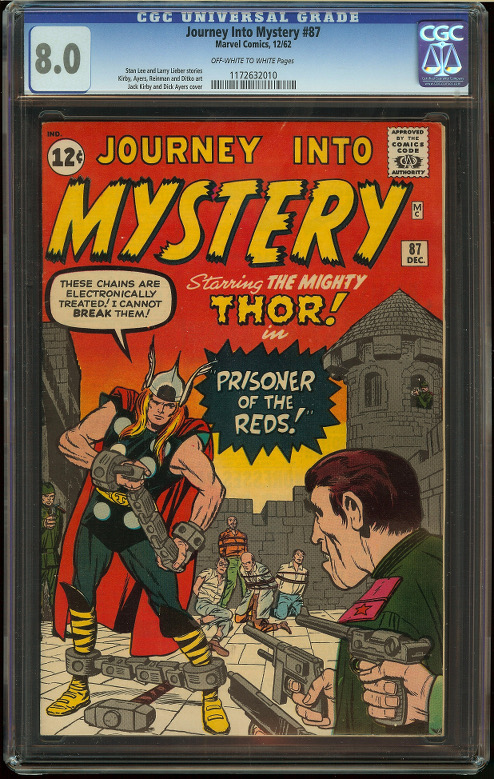 Journey into Mystery #87 CGC 8.0 - Click Image to Close