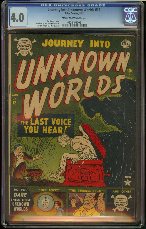 Journey into Unknown Worlds #12 CGC 4.0