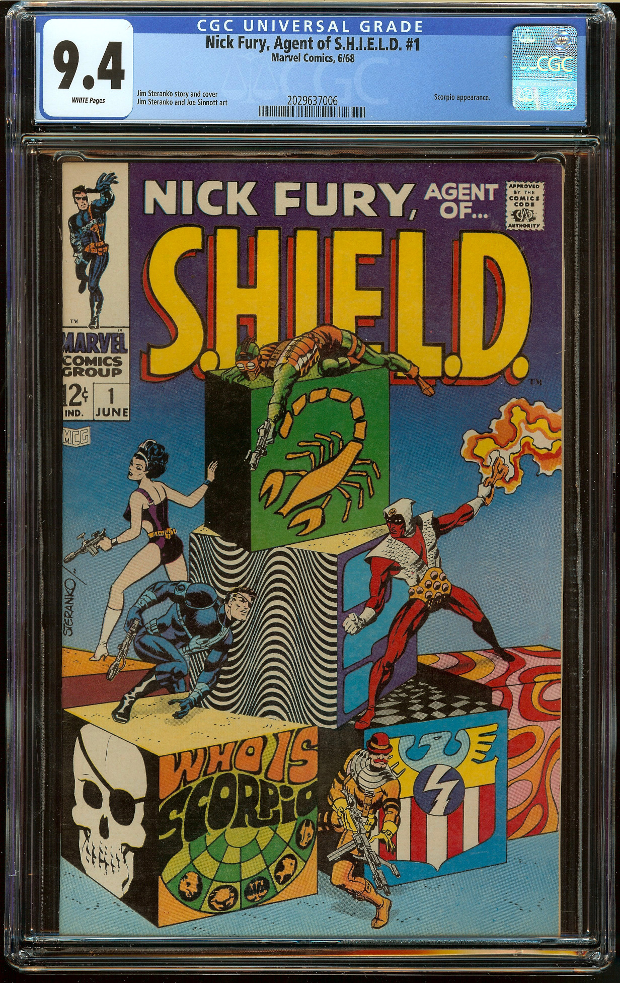 Nick Fury, Agent of Shield #1 CGC 9.4
