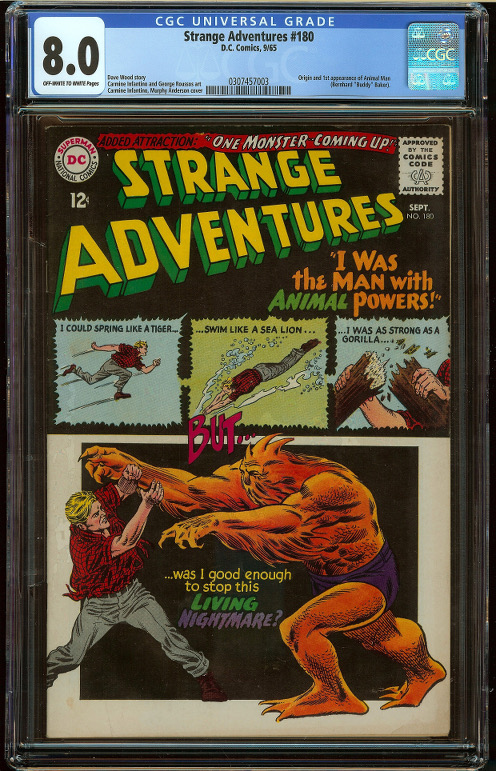 Strange Adventures #180 CGC 8.0 - Click Image to Close