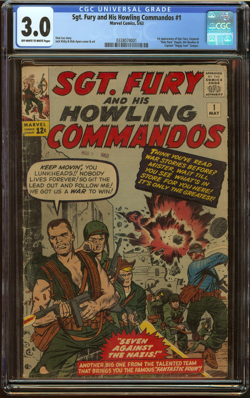 Sgt. Fury and His Howling Commandos #1 CGC 3.0 - Click Image to Close
