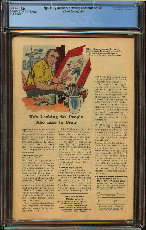 Sgt. Fury and His Howling Commandos #1 CGC 3.0