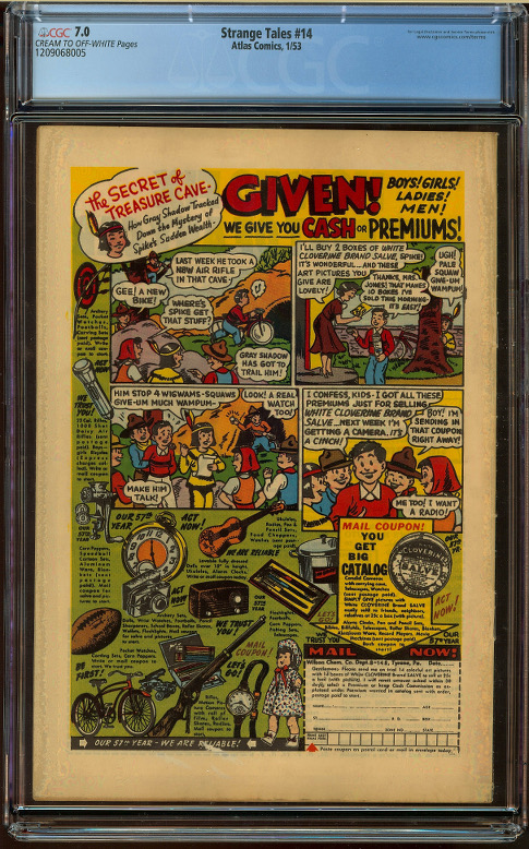 Strange Tales #14 CGC 7.0 - Click Image to Close