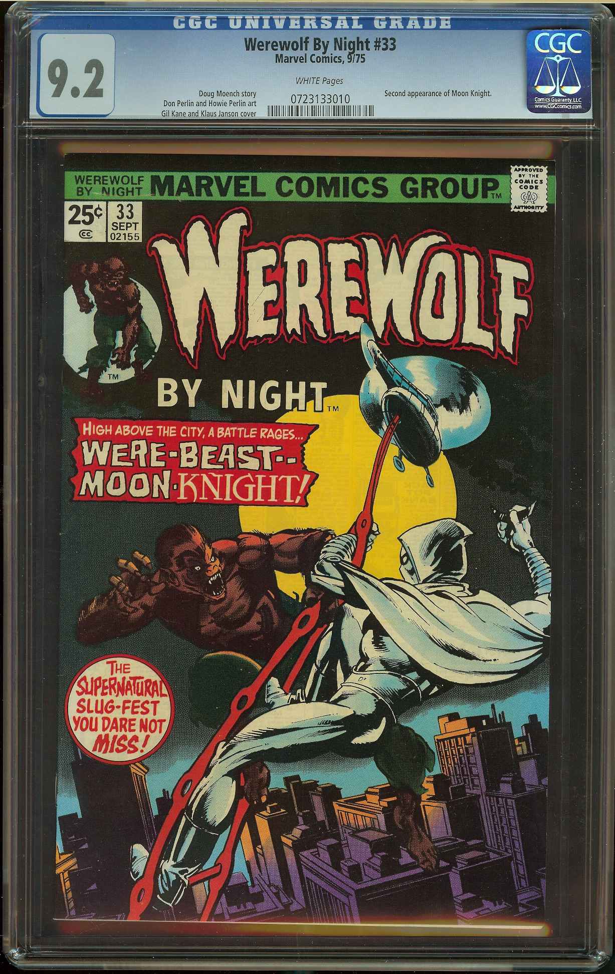 Werewolf by Night #33 CGC 9.2